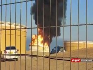هدف قرار گرفتن مخازن نفتی منطقه صنعتی عسقلان در فلسطین