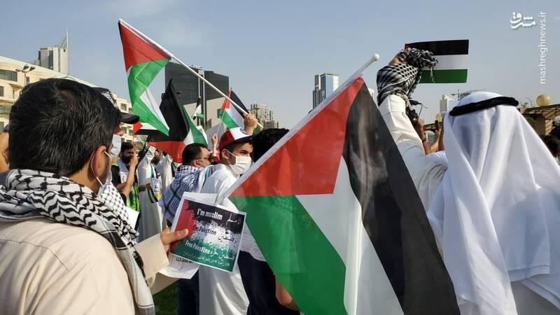 عکس/ تظاهرات کویتی ها برای اعلام همبستگی با فلسطین