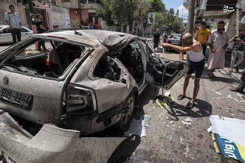 اصابت موشک صهیونیستها به خودرو خانواده فلسطینی