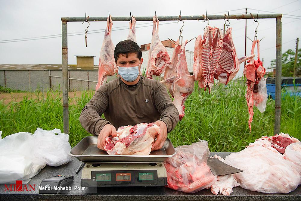 عکس/ سنت قدیمی فروش گوشت تازه کنار جاده
