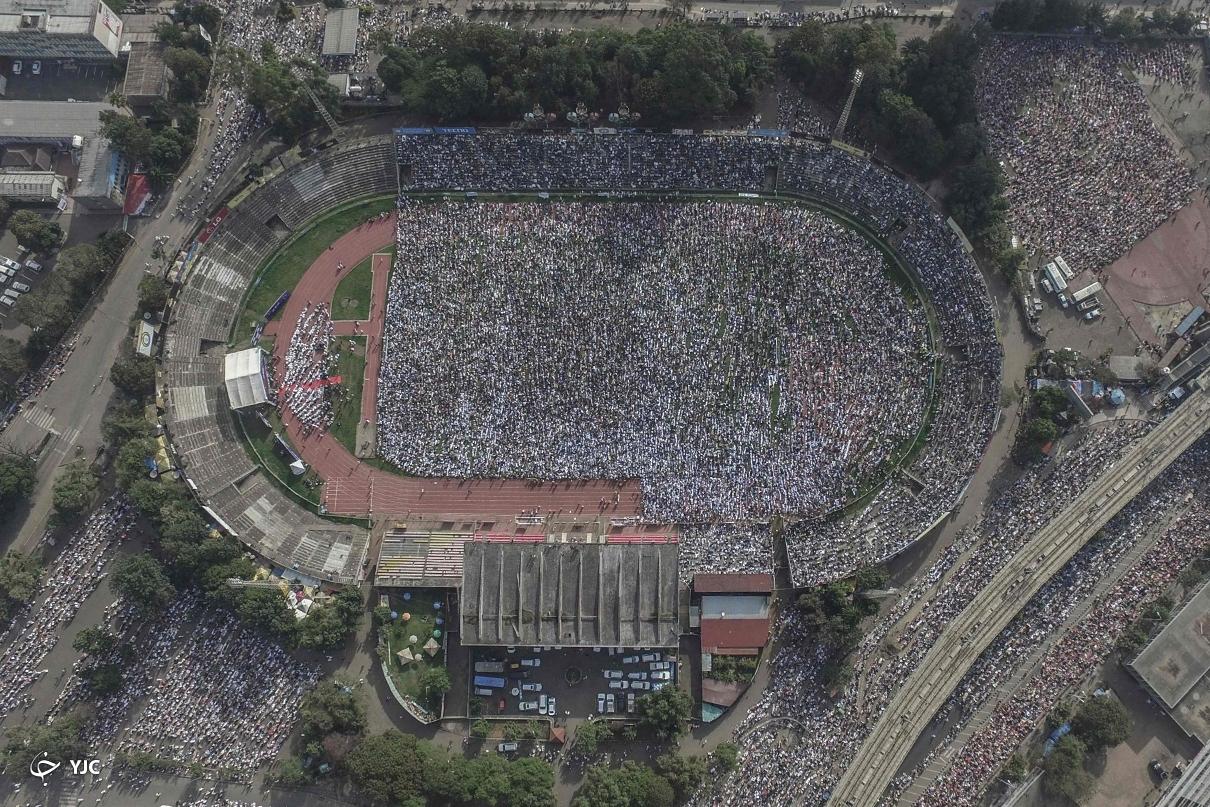 عکس/ برگزاری نماز عید فطر در استادیوم ورزشی آدیس آبابا