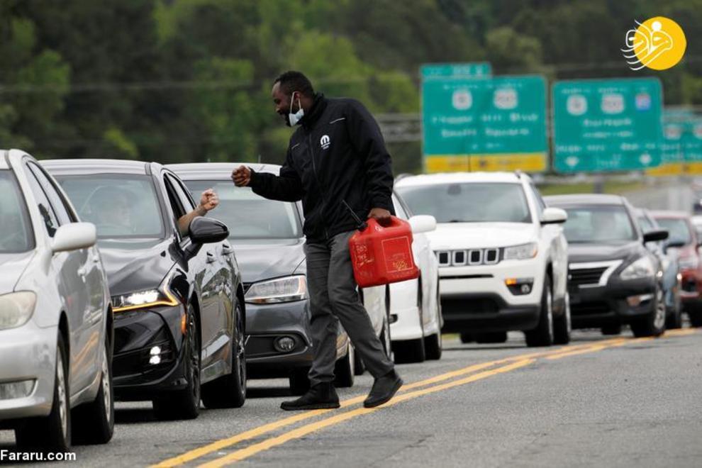 عکس/ کمبود بنزین در آمریکا پس از حمله سایبری