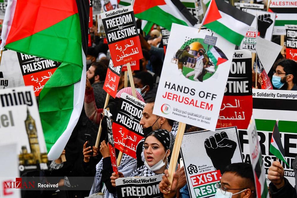 عکس/ همبستگی جهانیان با مردم فلسطین
