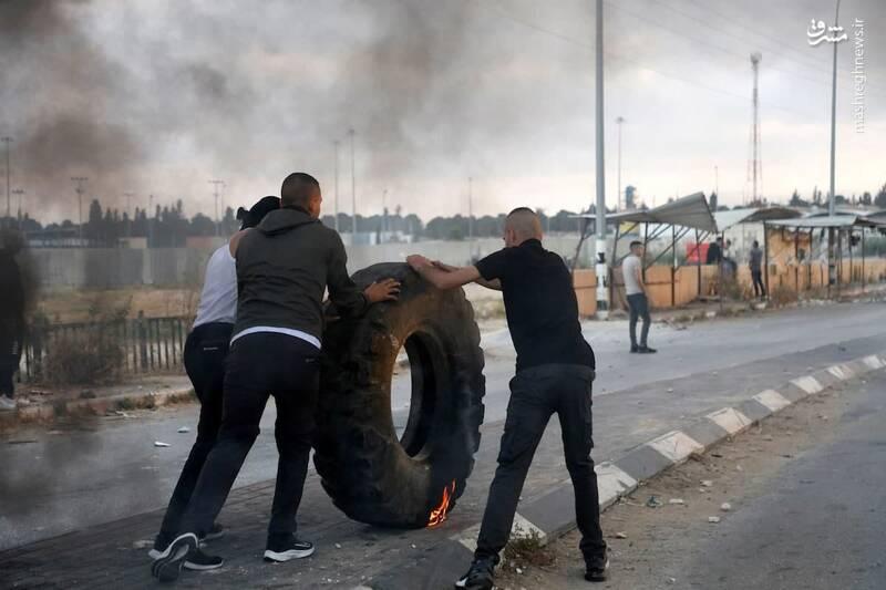 درگیری جوانان فلسطینی با نیروهای اشغالگر