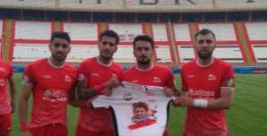 حمایت بازیکنان تراکتور از مردم فلسطین