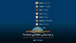 اسامی روزهای هفته بر چه مبنایی نامگذاری شدهاند؟