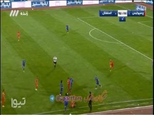 درگیری زشت بازیکنان پرسپولیس و استقلال در پایان بازی!