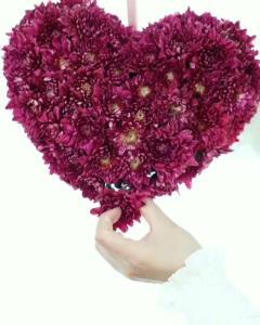 ترفند درست کردن آویز قلبی با گل طبیعی
