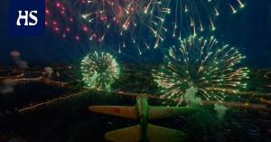 فیلم برداری با هواپیمای بدون سرنشین در دل آتش بازی
