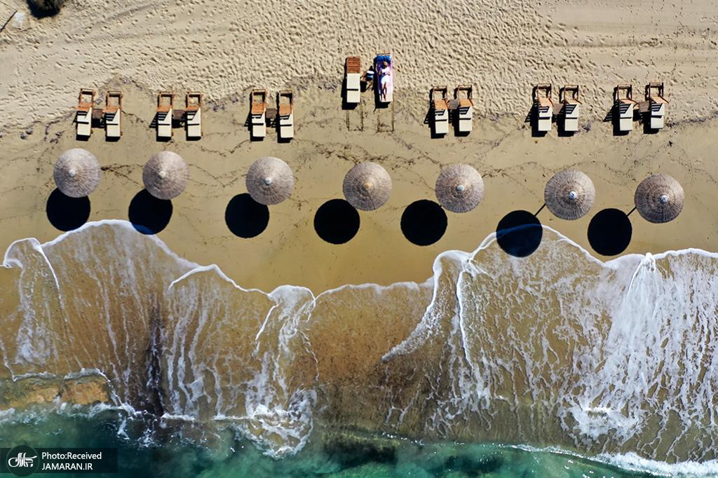 ساحل تفریحی پلاکا در جزیره ناکسوس، یونان