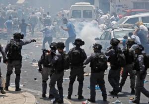 درگیری جوانان فلسطینی و نظامیان صهیونیست در الخلیل