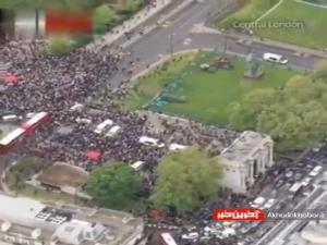 تظاهرات هزاران نفر در مرکز لندن به حمایت از مردم غزه