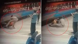 نجات نفسگیر زن مسافر توسط مامور قطار!