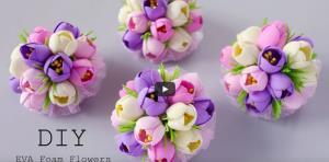 ایده گلسازی زیبا با فوم
