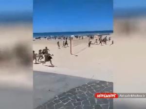 فرار مردم از سواحل تل آویو به دنبال حملات موشکی حماس