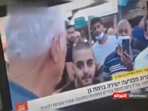 شکلک درآوردن عجیب یک صهیونیست در پخش زنده تلویزیون این رژیم