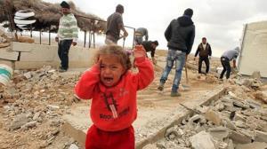 اضطراب کودکان فلسطینی در زیر بمباران غزه
