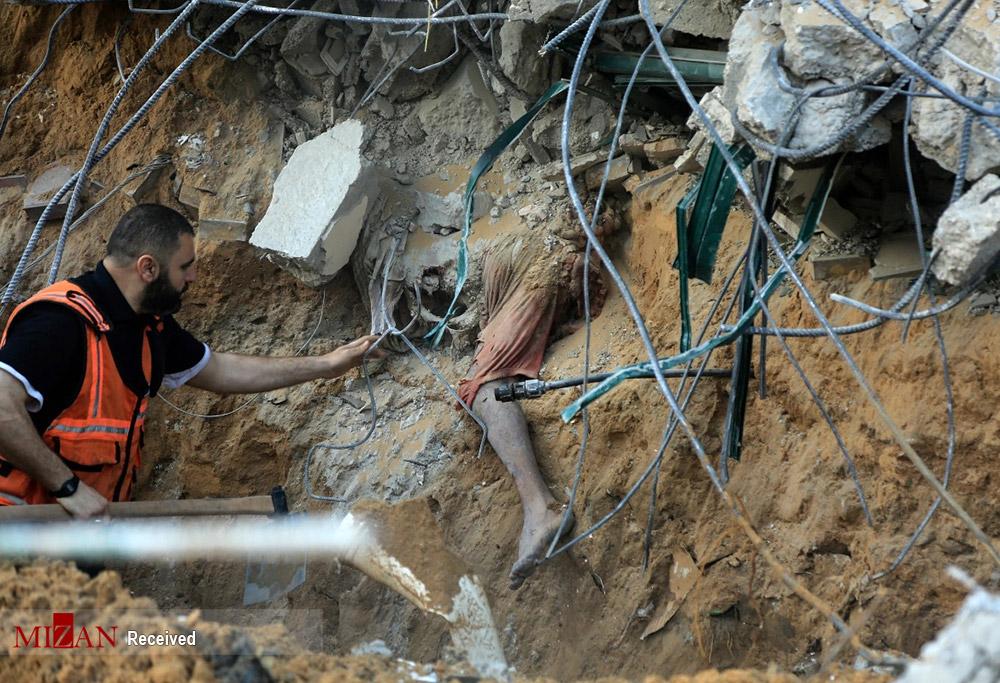 عکس/ ویرانیهای بجا مانده در حملات رژیم صهیونیستی به غزه
