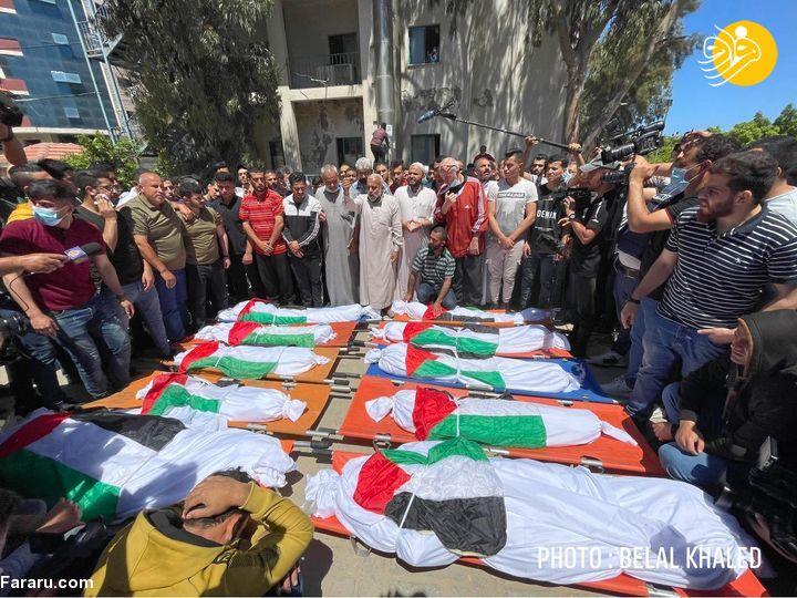 شهادت ۱۰ عضو خانواده فلسطینی