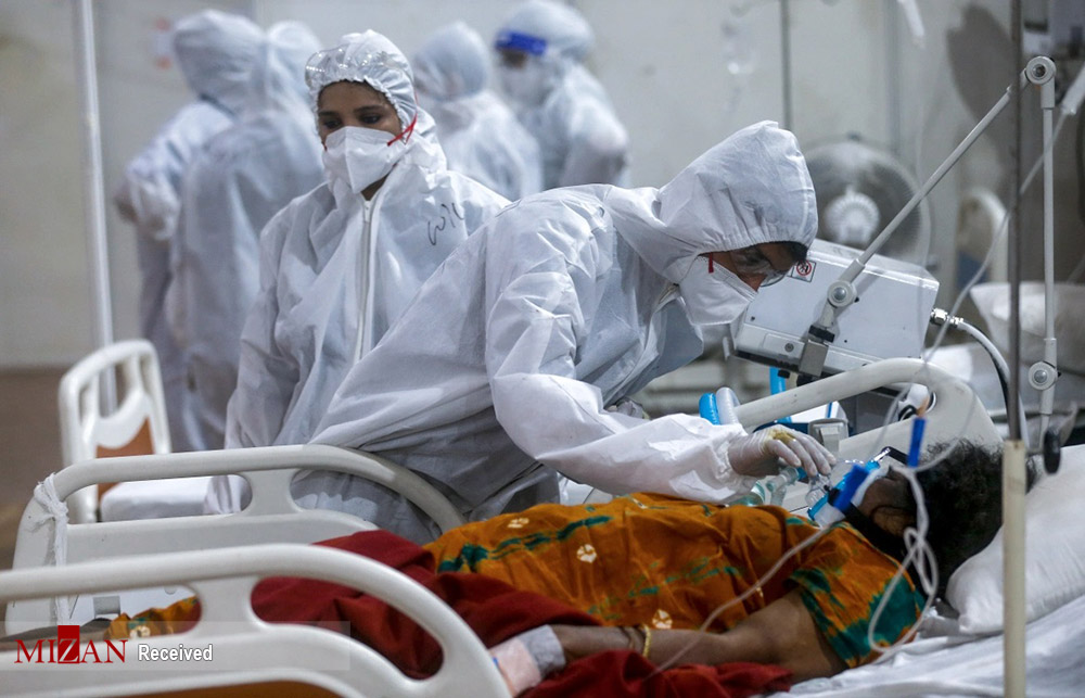 عکس/ وضعیت آشفته بیمارستان جامبوی بمبئی در دوران قرمز کرونایی