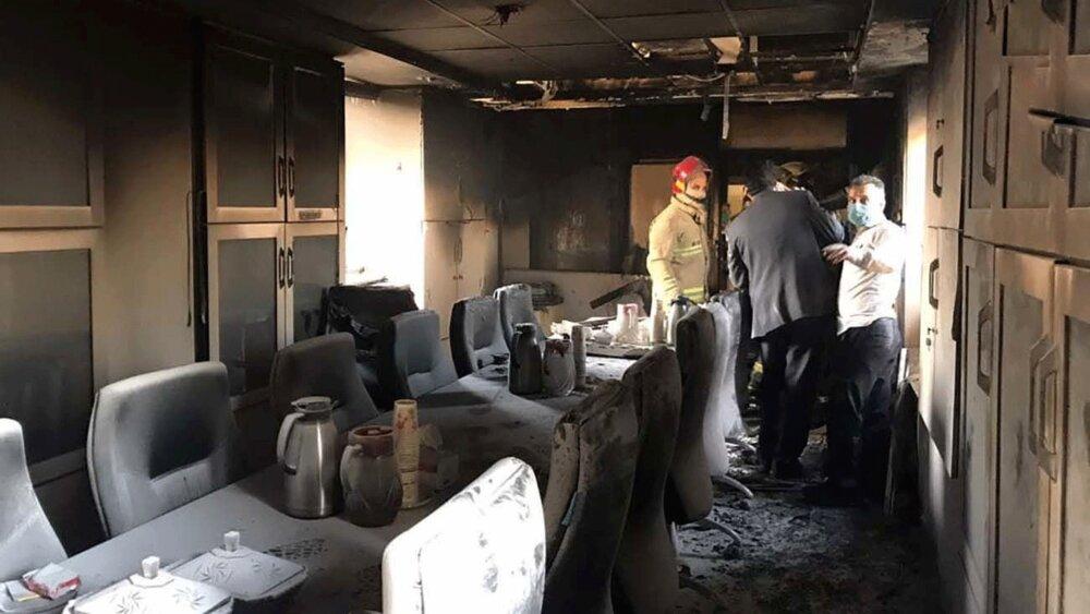 آتشسوزی زیانبار در بیمارستان بقیهالله تهران