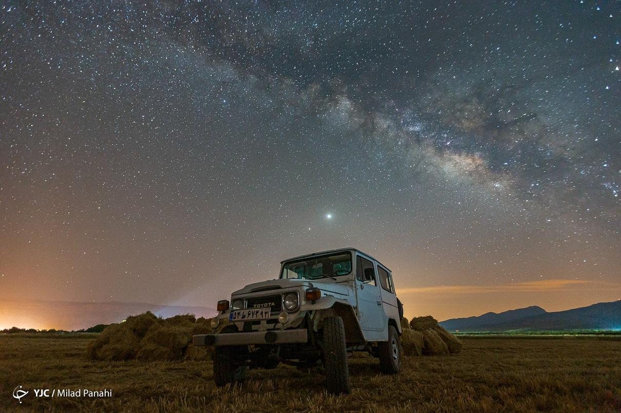 تصاویر زیبایی از آسمان شب و کهکشان راه شیری