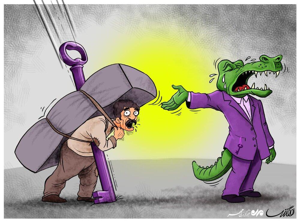 کاریکاتور/ اشک بر مظلومیت کوله بران!
