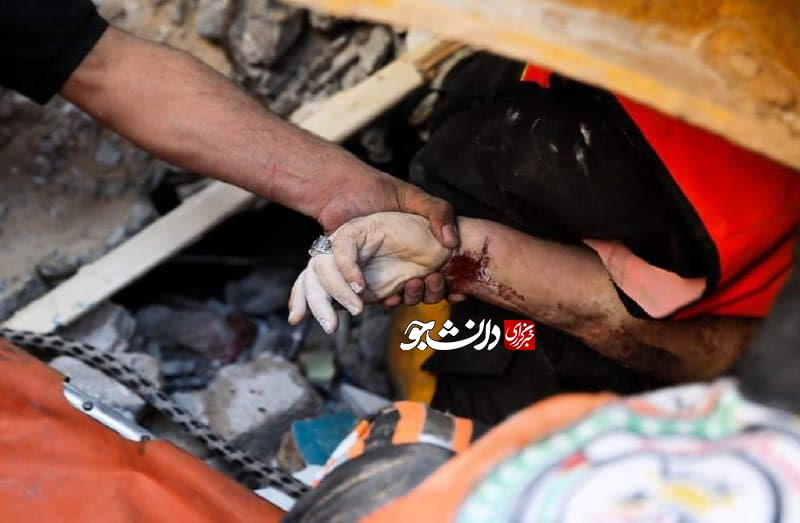 عکس/ جنایت جنگی رژیم اشغالگر قدس در مناطق مسکونی غزه