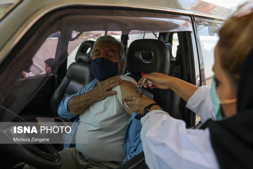 عکس/ افتتاح بزرگترین سایت خودرویی تزریق واکسن در کشور