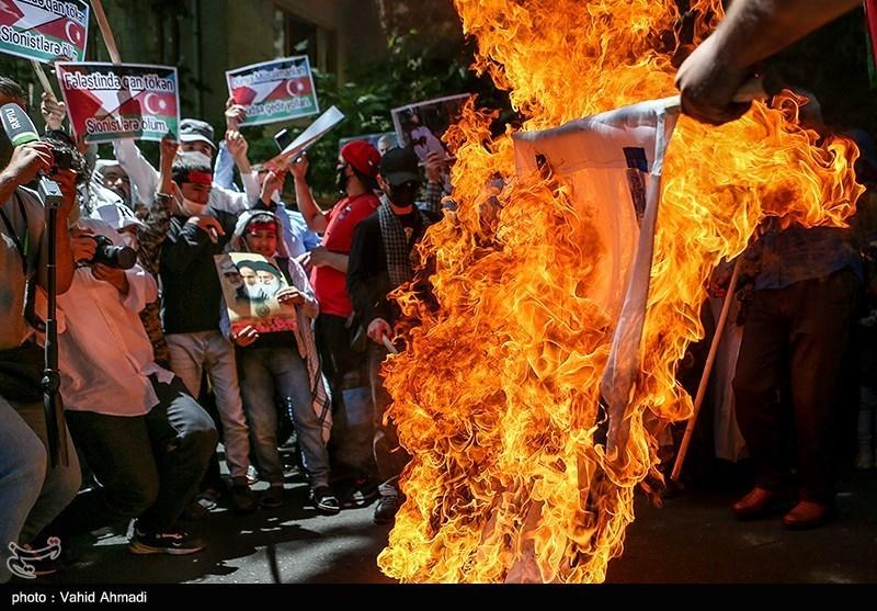 عکس/ تجمع در محکومیت جنایات رژیم صهیونیستی