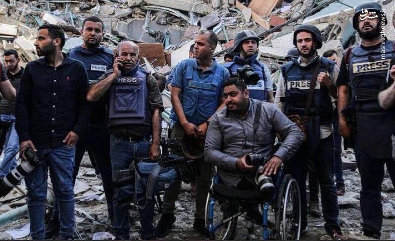 تخریب ساختمان خبرگزاری فرانسه و الجزیره در غزه