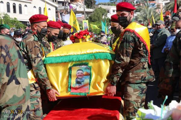تشییع پیکر رزمنده حزب الله در جنوب لبنان