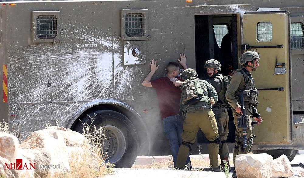 درگیر فلسطینیان کرانه باختری با نظامیان صهیونیست