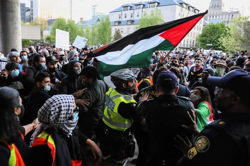 عکس/ خیابانهای کانادا مملو از حامیان فلسطین