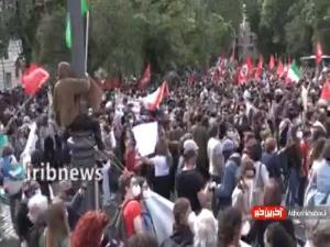 مردم ایتالیا در اعتراض به صهیونیستها به خیابانها آمدند
