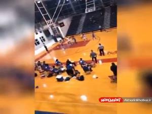 سقوط ناگهانی در سالن ورزشی