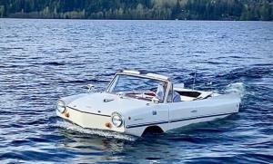 رویایی که به حقیقت پیوست؛ خودرویی که قایق میشود!