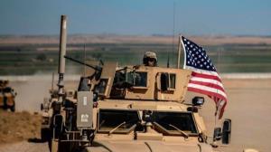 انتقال ۱۰ خودروی نظامی آمریکا از عراق به حسکه سوریه