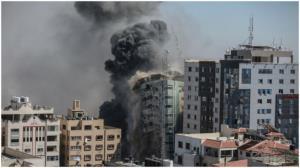 وقتی رژیم صهیونیستی برای بایکوت خبری برج رسانهای غزه را ویران کرد!