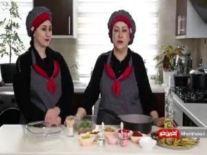 تهیه سوفله بادمجان توسط مریم امیرجلالی