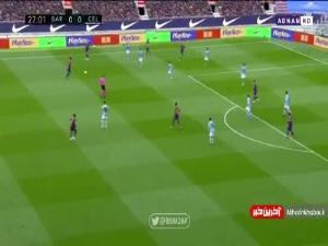 گل اول بارسلونا به سلتاویگو توسط مسی