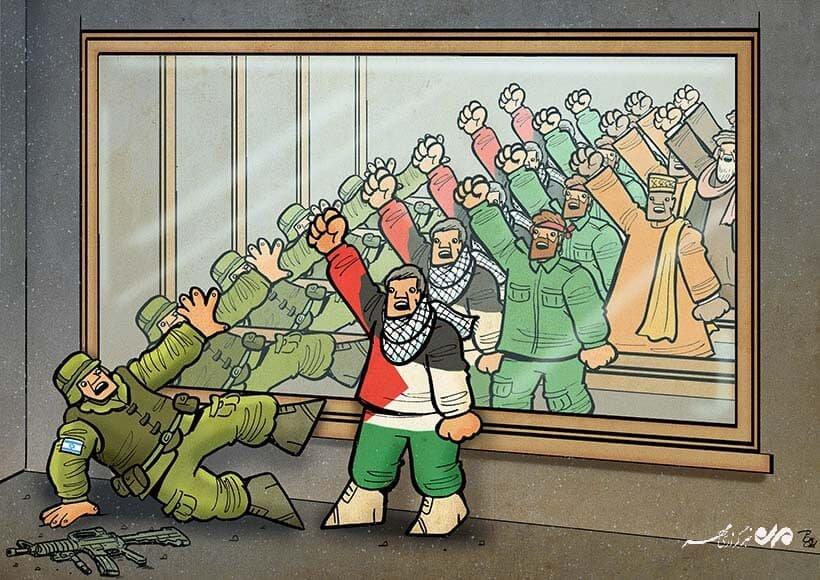 کارتون/ فلسطین تنها نیست
