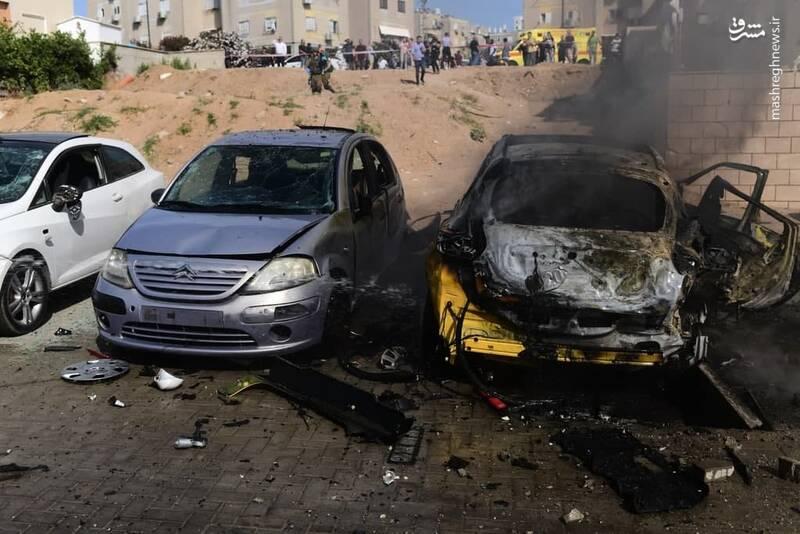 عکس/ خسارت حملات موشکی شبانه مقاومت فلسطین به عسقلان