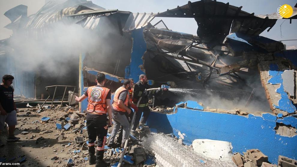 عکس/ حمله جنگندههای اسرائیل به کارخانهای در غزه