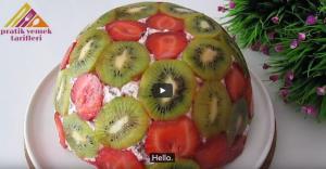 آموزش تهیه کیک میوه ای ساده و سریع