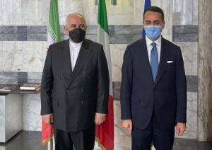 ظریف با همتای ایتالیایی دیدار کرد