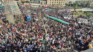 عراقیها در حمایت از مردم فلسطین تظاهرات کردند