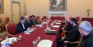 دیدار ظریف با نخست وزیر و اسقف اعظم واتیکان
