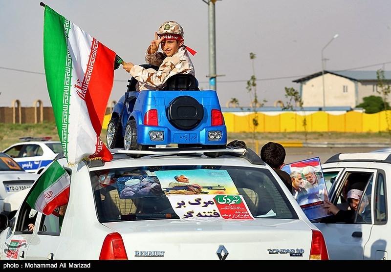 عکس/ راهپیمایی خودرویی در حمایت از مردم مظلوم فلسطین