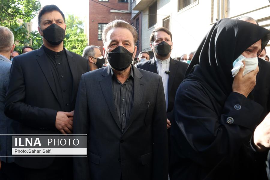 عکس/ شخصیت ها در مراسم تشییع اکبر ترکان